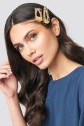 NA-KD Accessories Gold Flakes Hair Clips - Gold