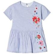 Catimini Blue Dress with Embroidery 12 months