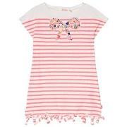 Billieblush Pink Stripe Beaded Bow Detail Jersey Dress 12 years