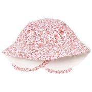 Carrément Beau Pink and White Floral Sun Hat 44 (6 months)
