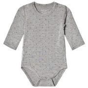 Hust&Claire Baby Body Light Grey Melange 50 cm (0-1 mnd)