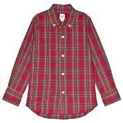 GAP Pure Red Check Shirt S (6-7 år)