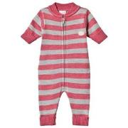 Lillelam Babysuit stripes Cerise 56 cm (1-2 mnd)