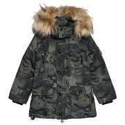 Diadora Green Camouflage Technical Hooded Parka XXL (16 years)