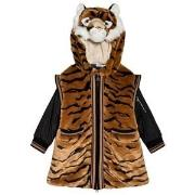Dolce & Gabbana Tiger Faux Fur Hooded Coat 8 years