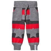 Geggamoja Wool Pants Grey/rasberry 50/56 cm