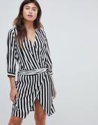 Vero Moda stripe wrap dress-Multi